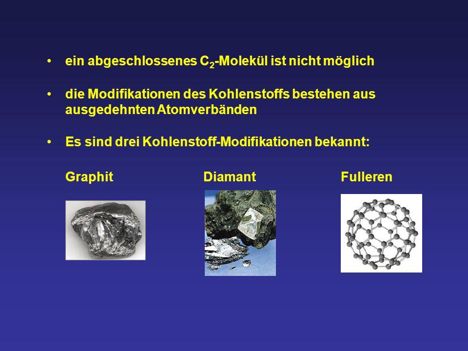 ein abgeschlossenes C2-Molekül ist nicht möglich