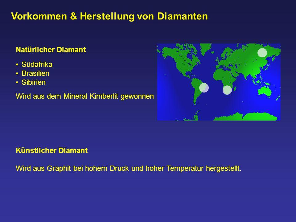 Vorkommen & Herstellung von Diamanten