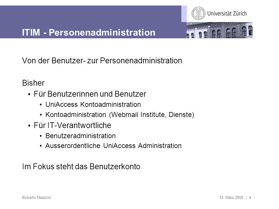 ITIM - Personenadministration