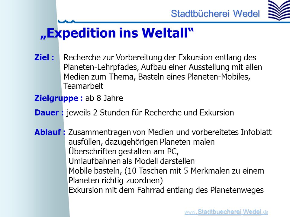 """Expedition ins Weltall"