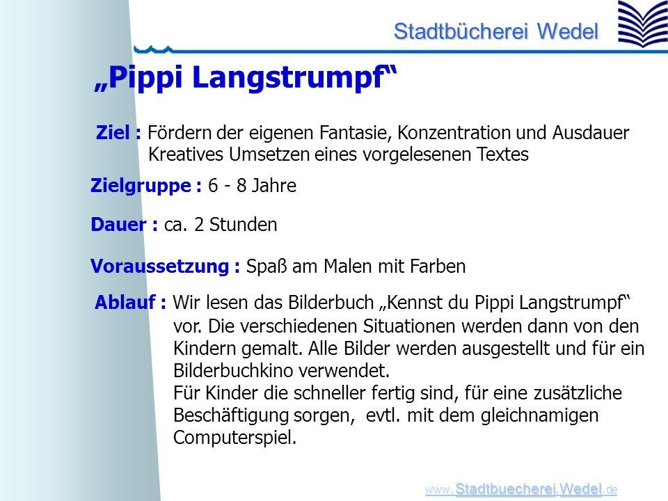 """""""Pippi Langstrumpf Ziel : Fördern der eigenen Fantasie, Konzentration und Ausdauer. Kreatives Umsetzen eines vorgelesenen Textes."""