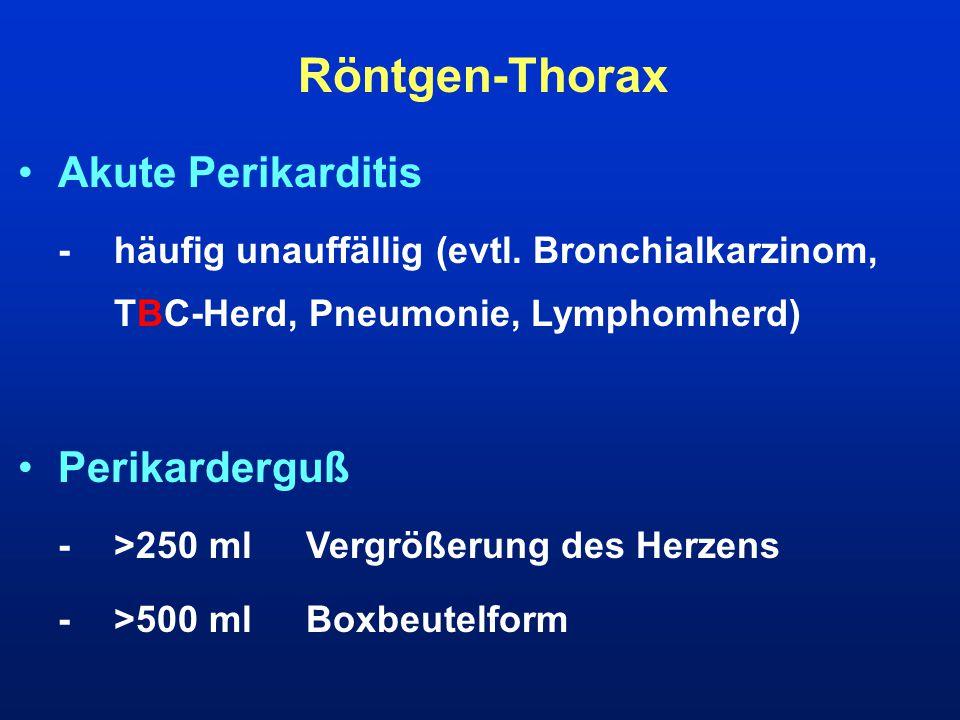 Röntgen-Thorax Akute Perikarditis Perikarderguß