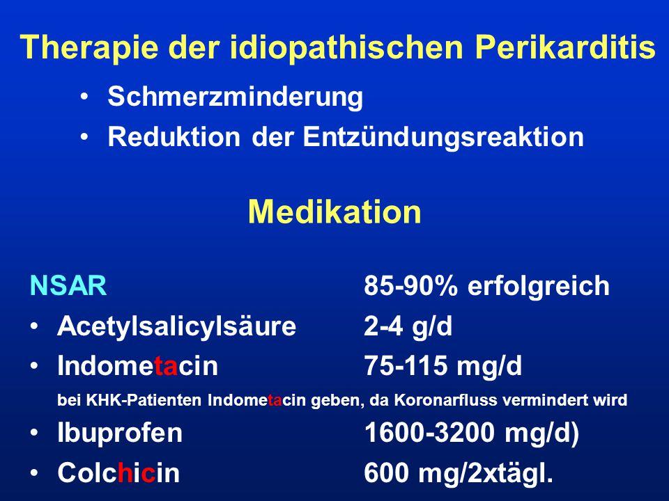 Therapie der idiopathischen Perikarditis