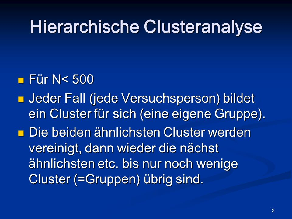 Hierarchische Clusteranalyse