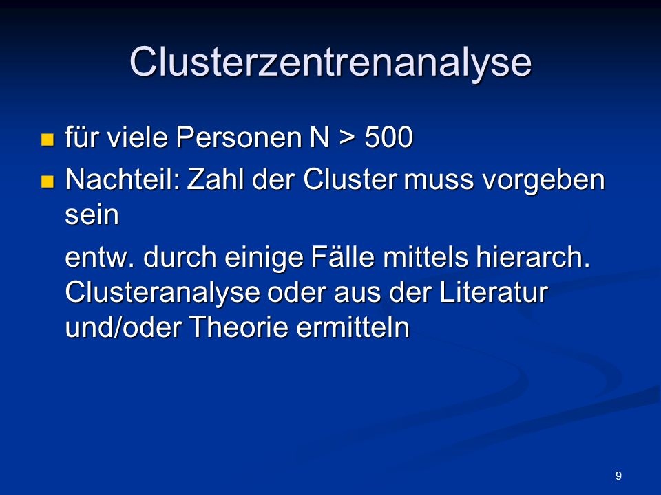 Clusterzentrenanalyse