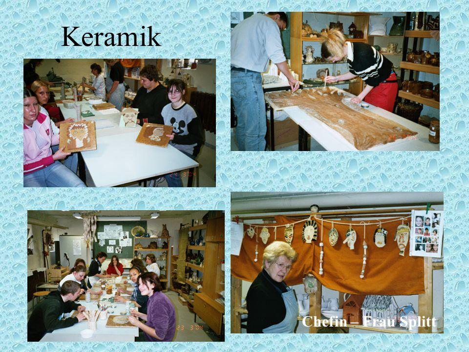 Keramik Chefin – Frau Splitt