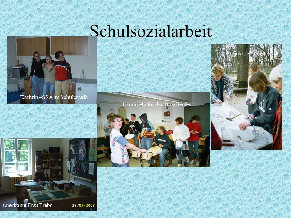 Schulsozialarbeit Projekt - Blähbeton Kathrin –SSA im Schülercafe