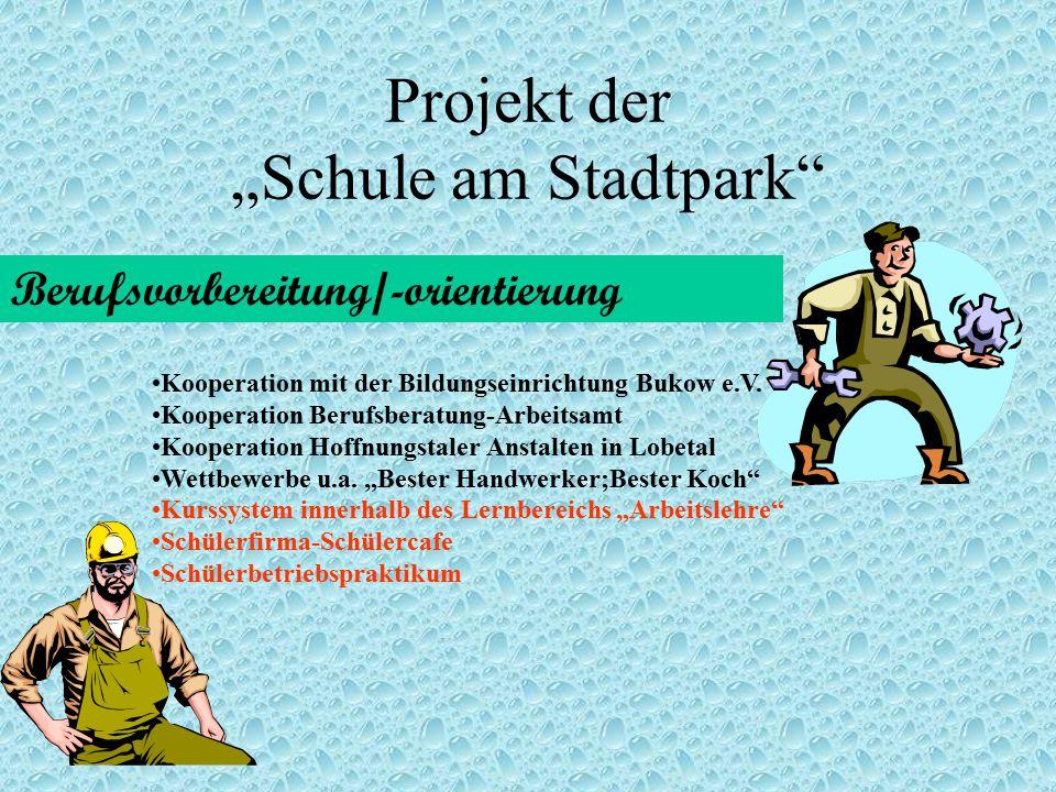 """Projekt der """"Schule am Stadtpark"""