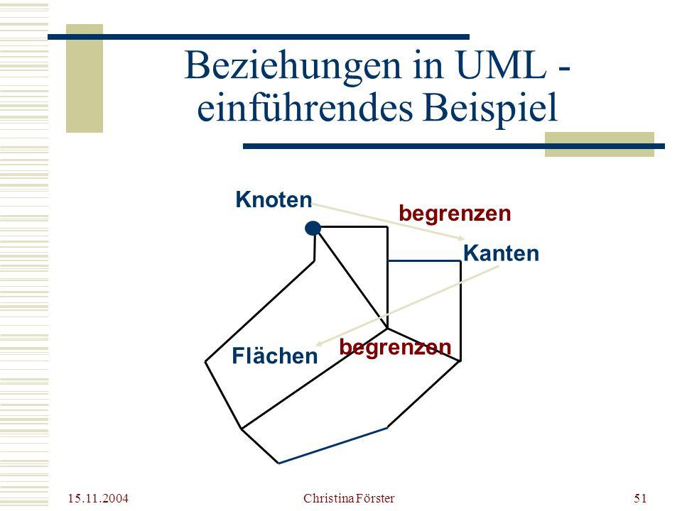 Beziehungen in UML - einführendes Beispiel