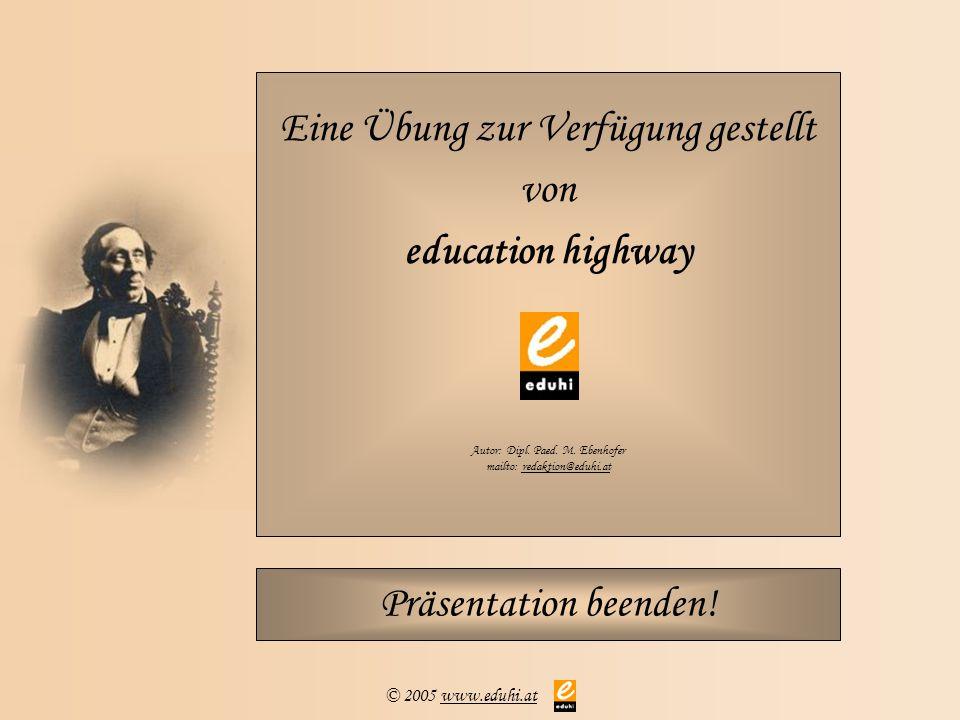 Eine Übung zur Verfügung gestellt von education highway