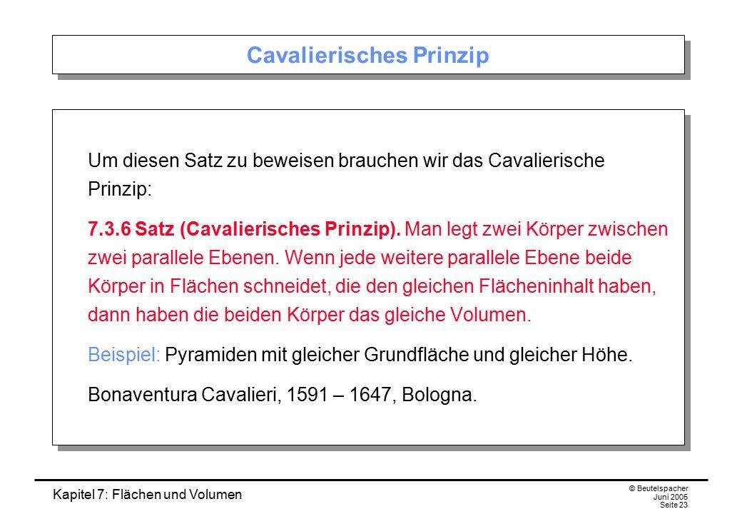 Cavalierisches Prinzip