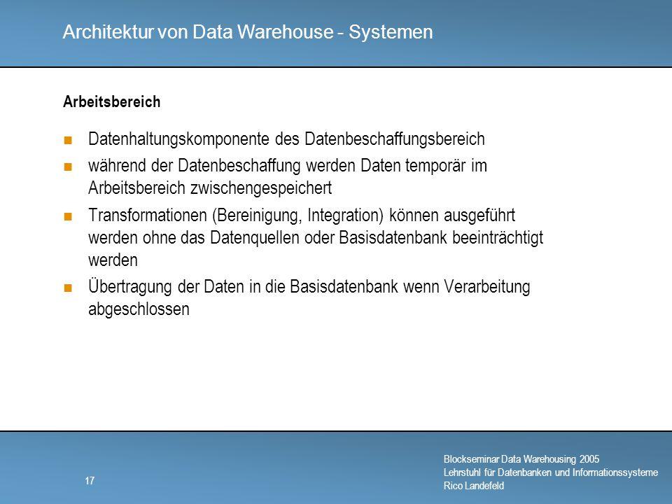 Datenhaltungskomponente des Datenbeschaffungsbereich