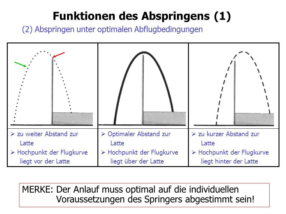Funktionen des Abspringens (1)