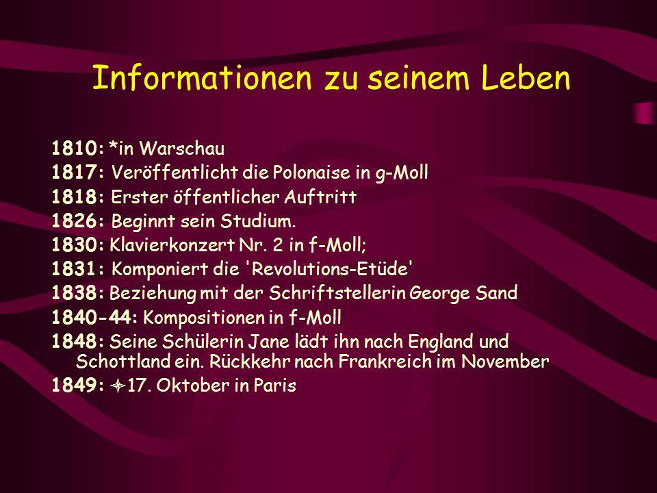 Informationen zu seinem Leben