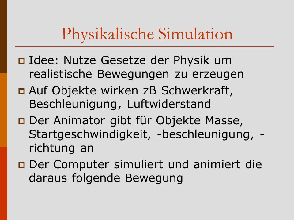 Physikalische Simulation