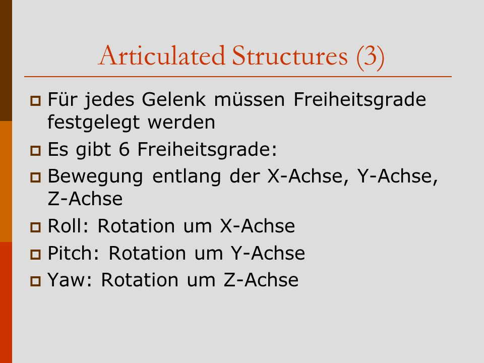 Articulated Structures (3)