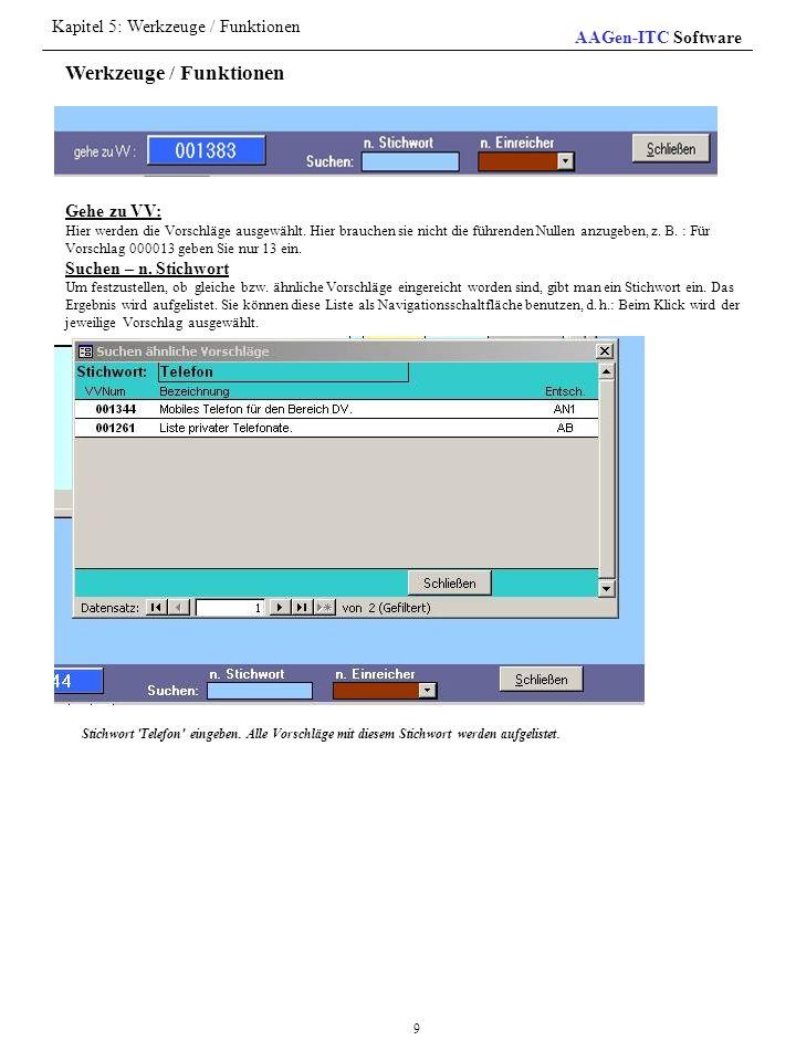 Werkzeuge / Funktionen