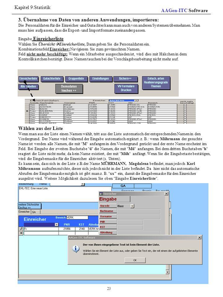 Kapitel 9:Statistik AAGen-ITC Software
