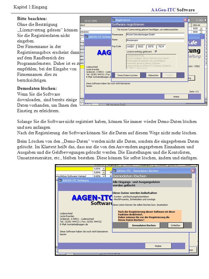 Kapitel 1:Eingang AAGen-ITC Software.