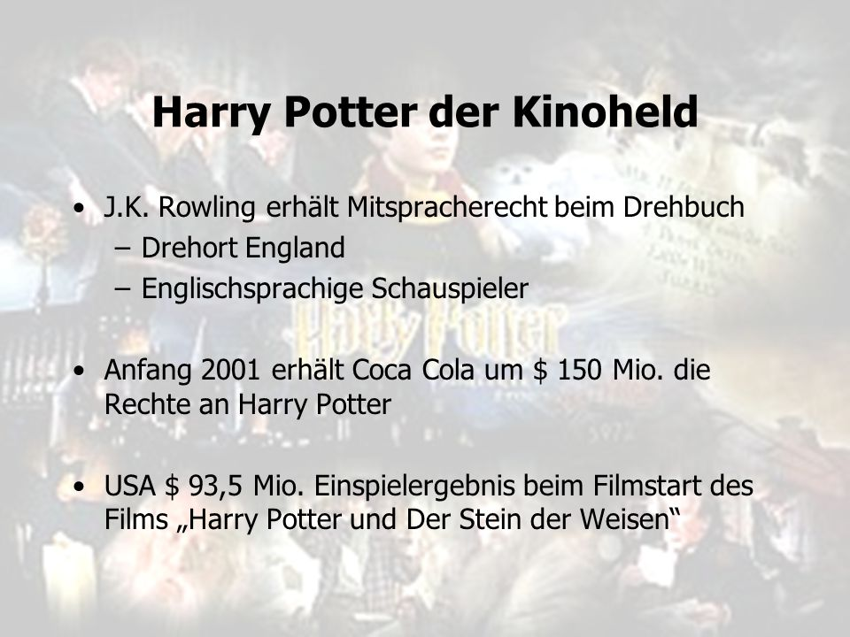 Harry Potter der Kinoheld