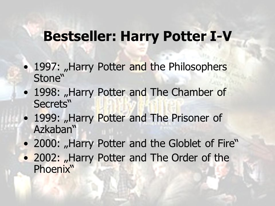 Bestseller: Harry Potter I-V