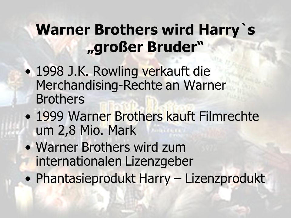 "Warner Brothers wird Harry`s ""großer Bruder"
