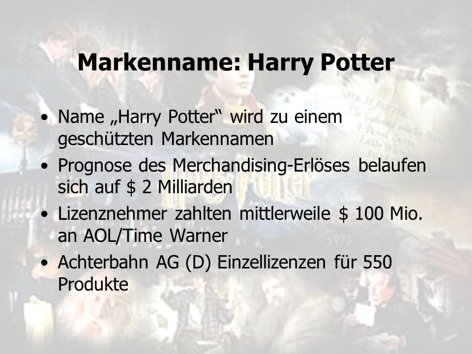 Markenname: Harry Potter