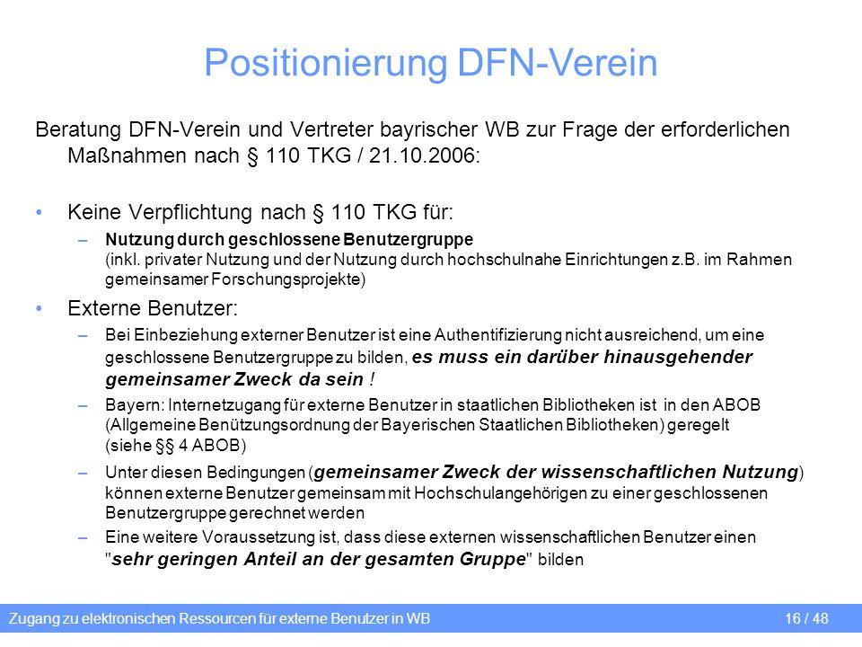 Positionierung DFN-Verein