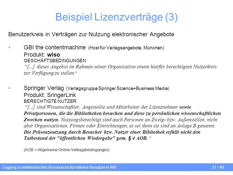 Beispiel Lizenzverträge (3)