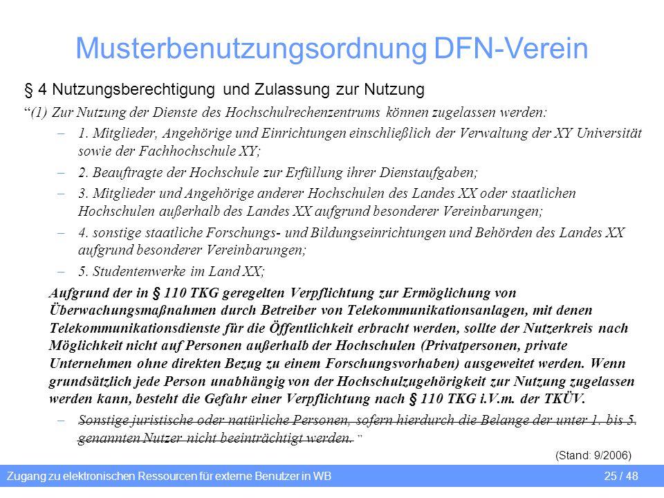 Musterbenutzungsordnung DFN-Verein