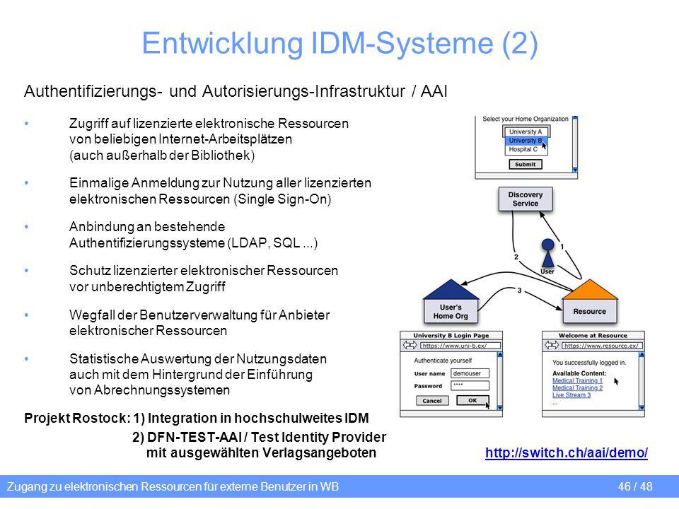 Entwicklung IDM-Systeme (2)