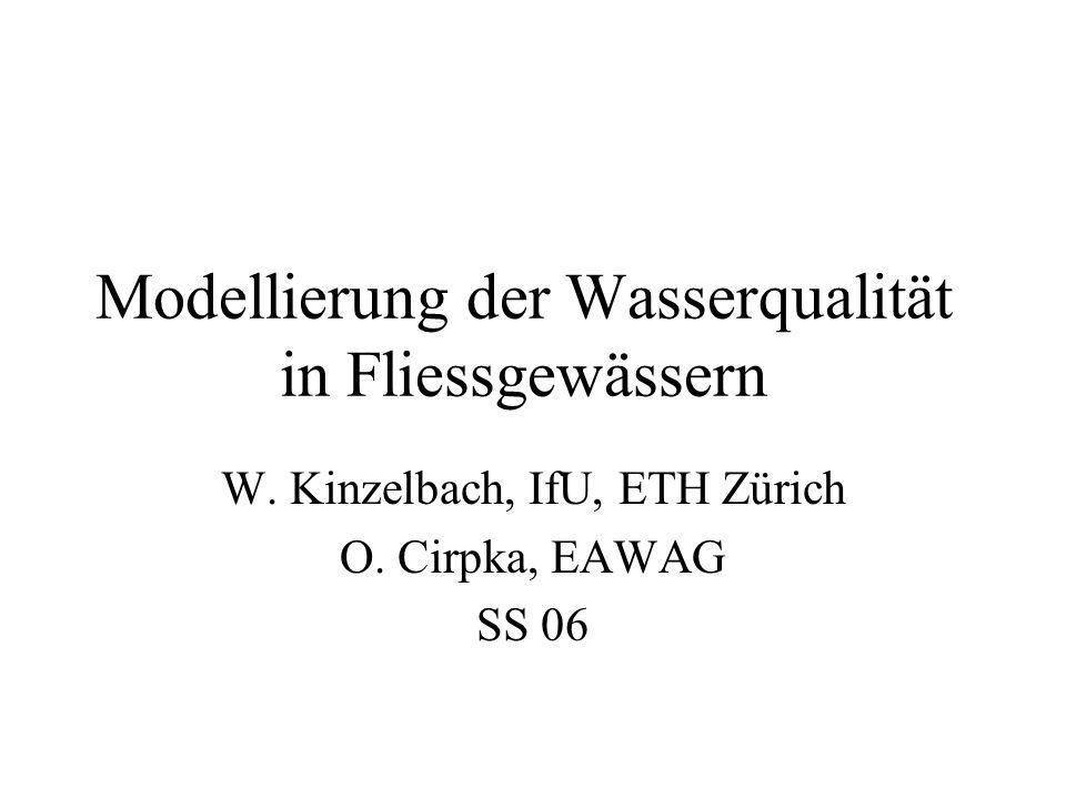 Modellierung der Wasserqualität in Fliessgewässern