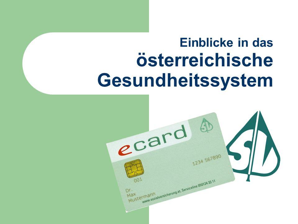 Einblicke in das österreichische Gesundheitssystem