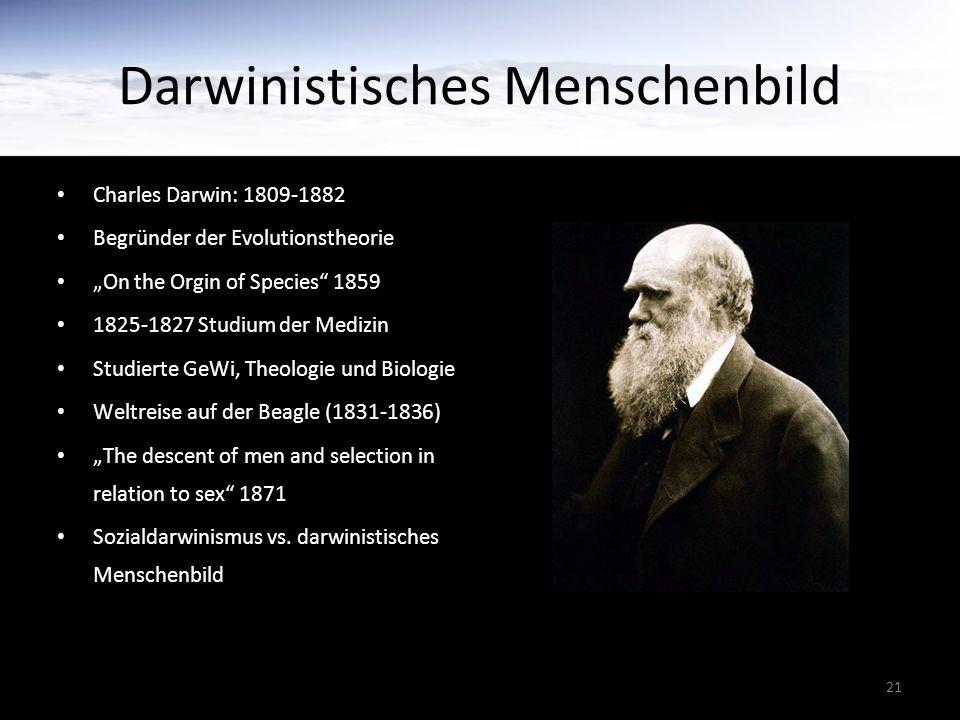 Darwinistisches Menschenbild