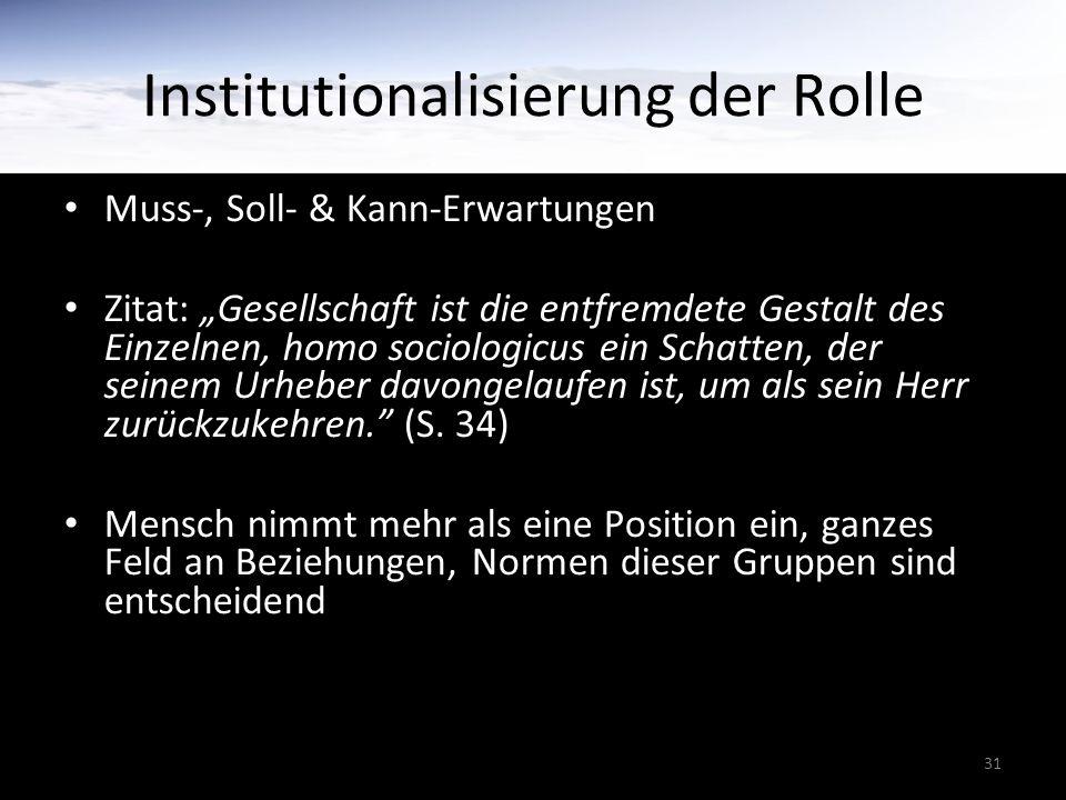Institutionalisierung der Rolle
