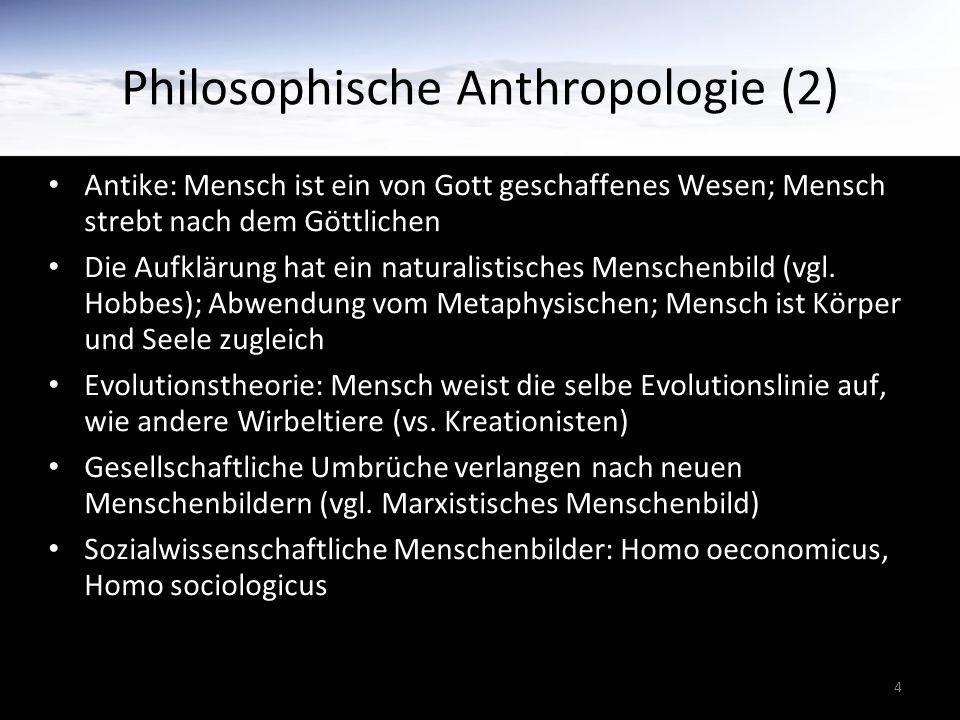 Philosophische Anthropologie (2)