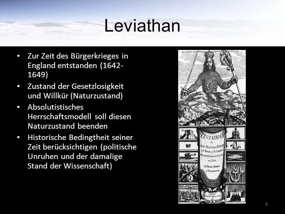 Leviathan Zur Zeit des Bürgerkrieges in England entstanden (1642-1649)