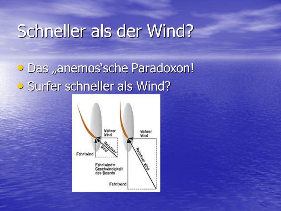 """Schneller als der Wind Das """"anemos'sche Paradoxon!"""