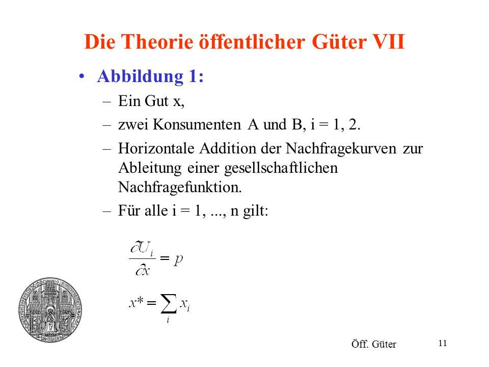 Die Theorie öffentlicher Güter VII