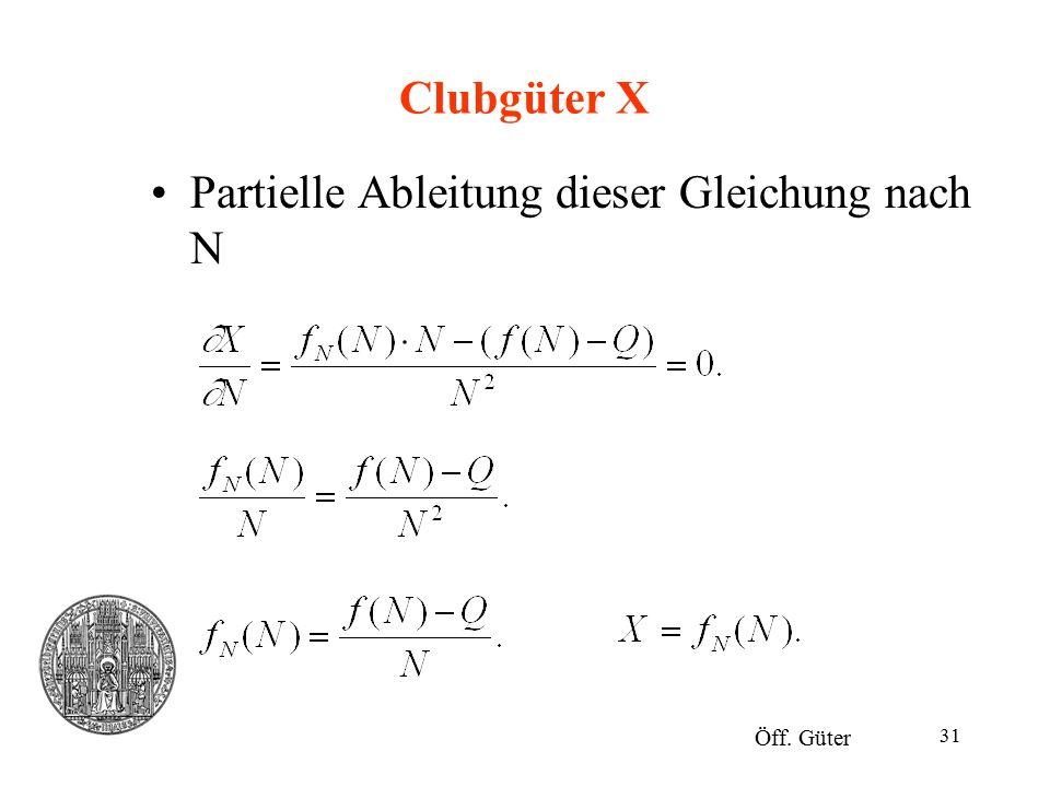 Partielle Ableitung dieser Gleichung nach N
