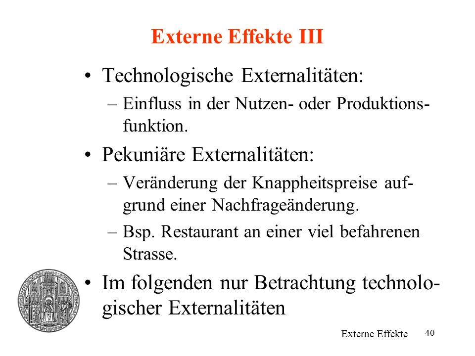 Technologische Externalitäten: