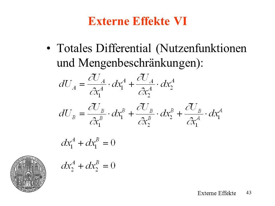 Totales Differential (Nutzenfunktionen und Mengenbeschränkungen):