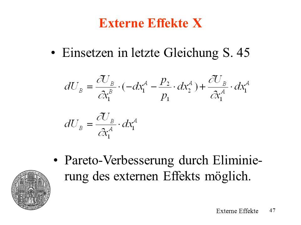Einsetzen in letzte Gleichung S. 45