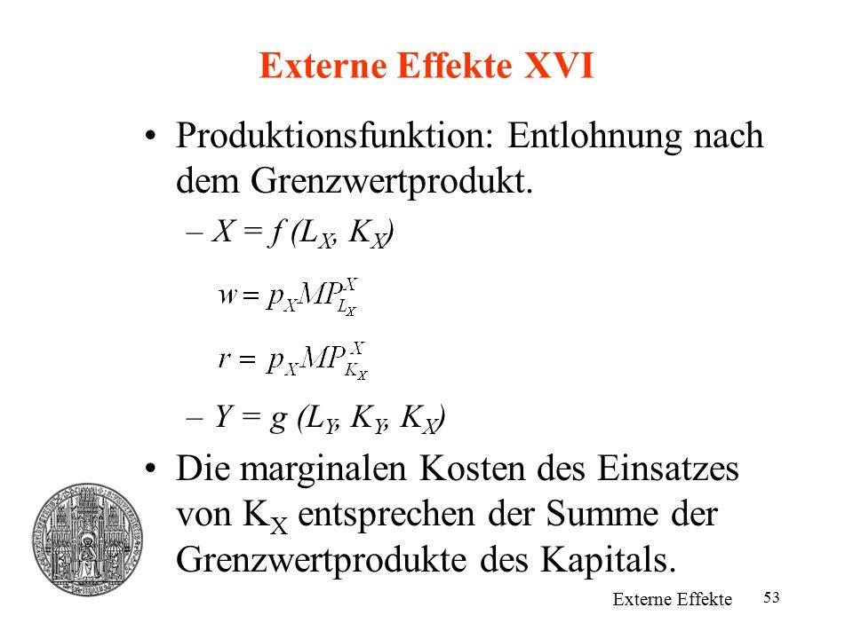 Produktionsfunktion: Entlohnung nach dem Grenzwertprodukt.