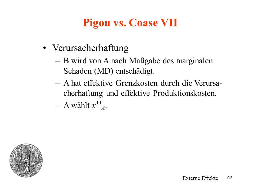 Pigou vs. Coase VII Verursacherhaftung
