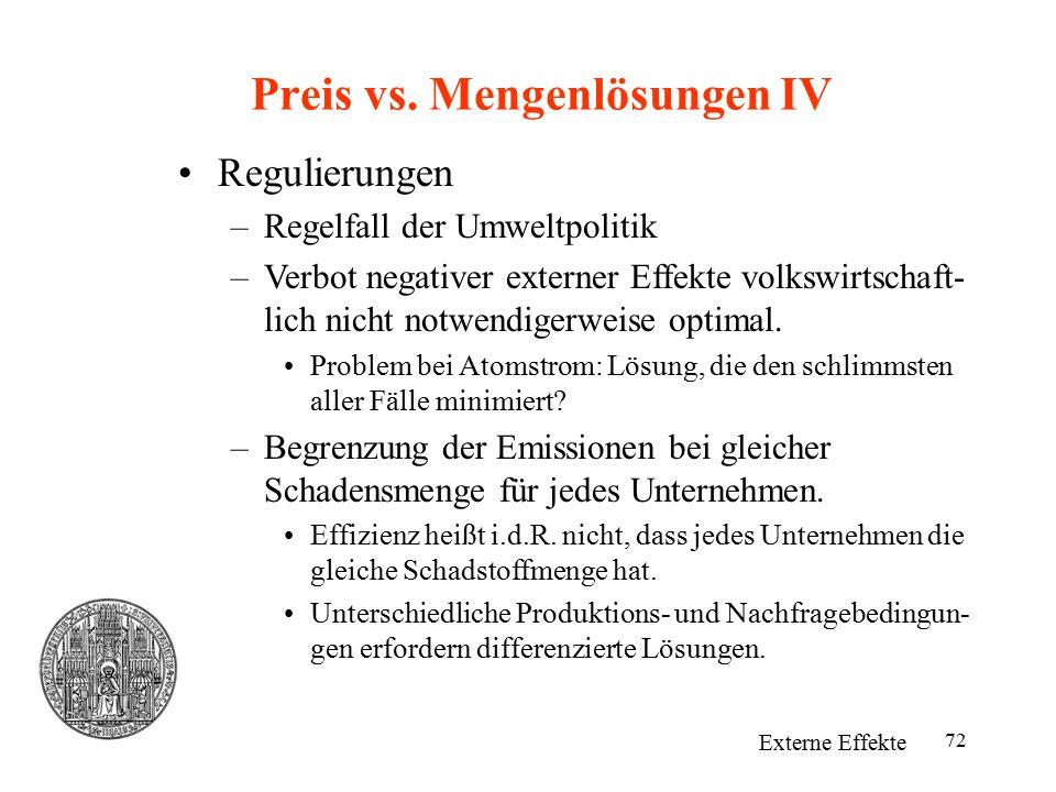 Preis vs. Mengenlösungen IV