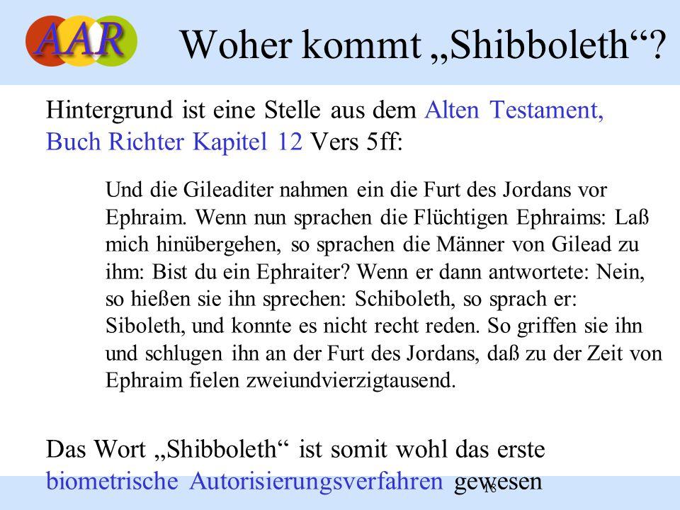 "Woher kommt ""Shibboleth"