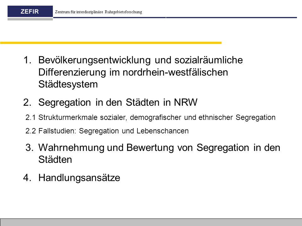 Segregation in den Städten in NRW