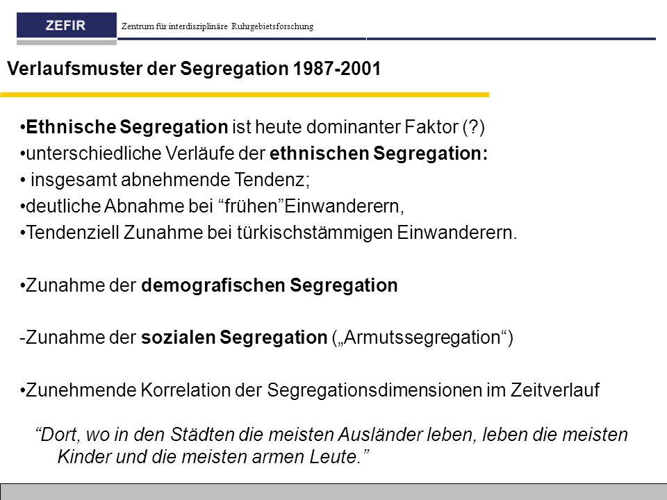 Verlaufsmuster der Segregation 1987-2001