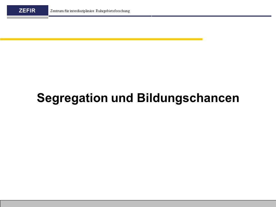 Segregation und Bildungschancen
